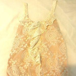 American Rag Women's Medium Nude Lace Blouse